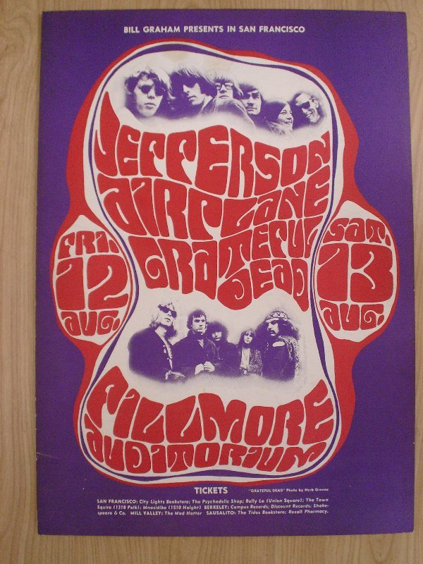 1013: A mounted poster BGP (23)  Jefferson Airplane