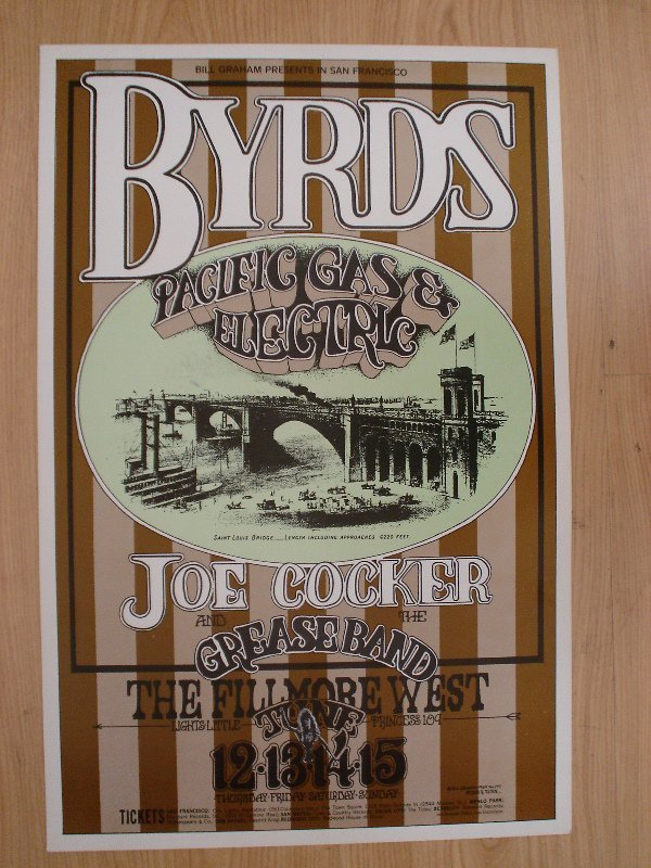 1016: A poster for BGP (177) featuring The Byrds