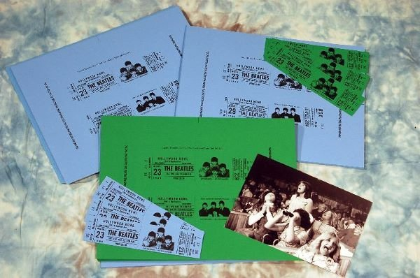 1502: ** The Beatles Hollywood Bowl 70 uncut tickets