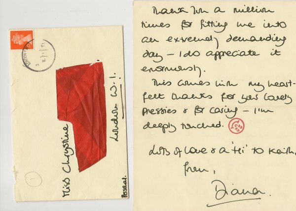 14: Princess Diana Personal Letter