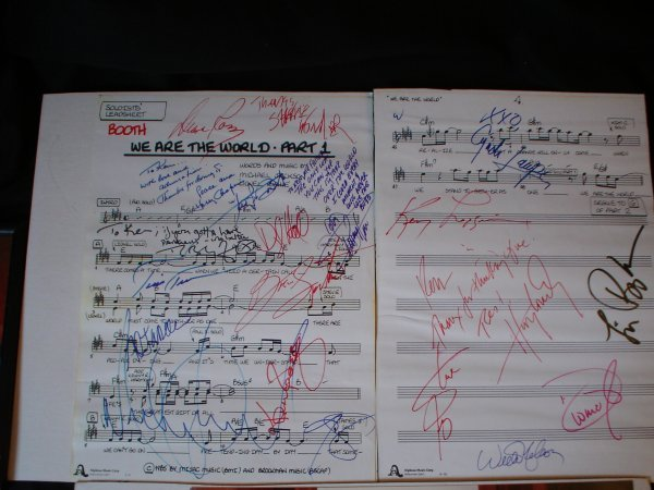 27: Live Aid/USA for Africa//We are the World Signed