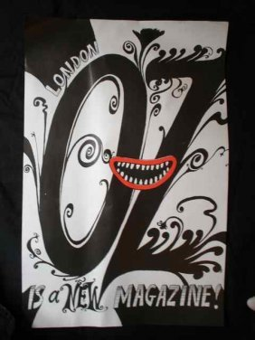 A Poster For - Oz Is A New Magazine By Martin Sharp