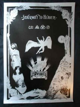 A Poster For Led Zeppelin's Stairway To Heaven