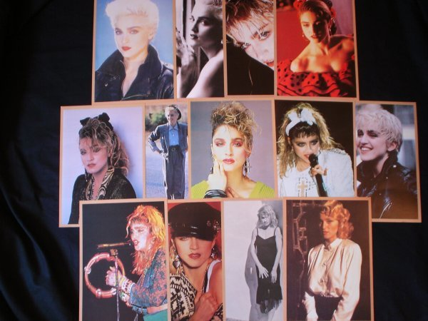 110: Madonna A set of rare French press pack photograph