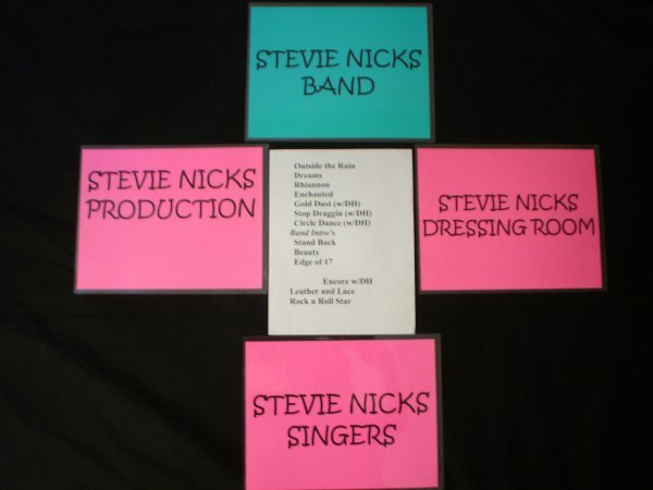 134: Stevie Nicks Tour Items.