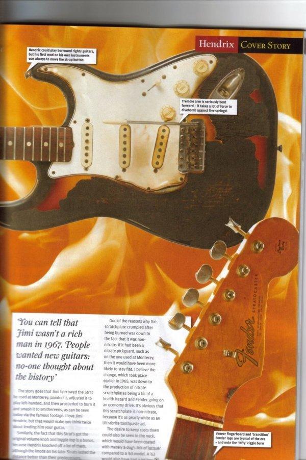 221: Jimi Hendrix First Burnt Guitar - 4