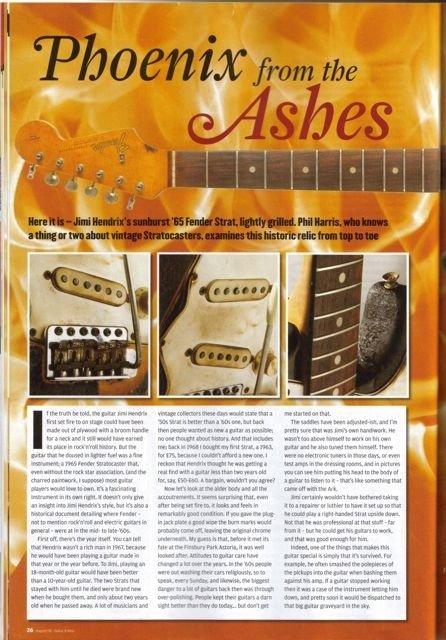 221: Jimi Hendrix First Burnt Guitar - 6