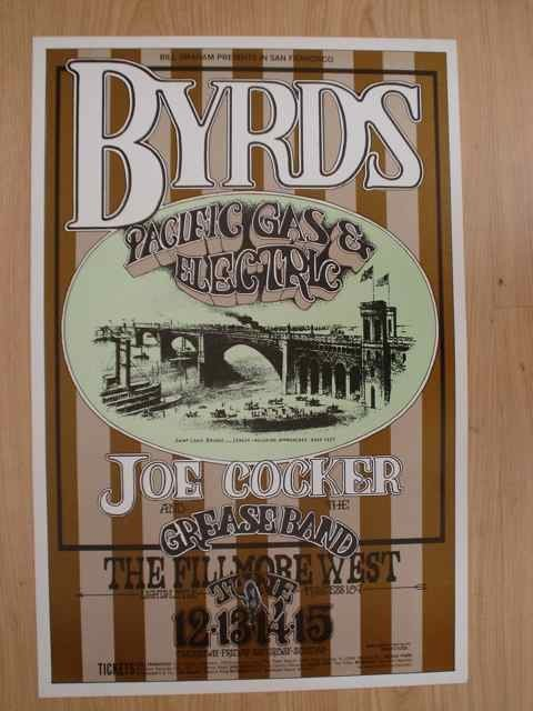 1016: A poster for BGP (177) featuring The Byrds and Jo