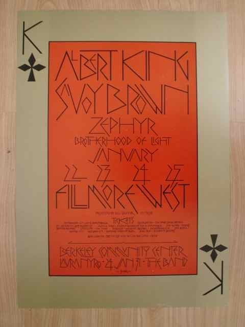 1021: A poster for BGP (213) featuring Albert King and