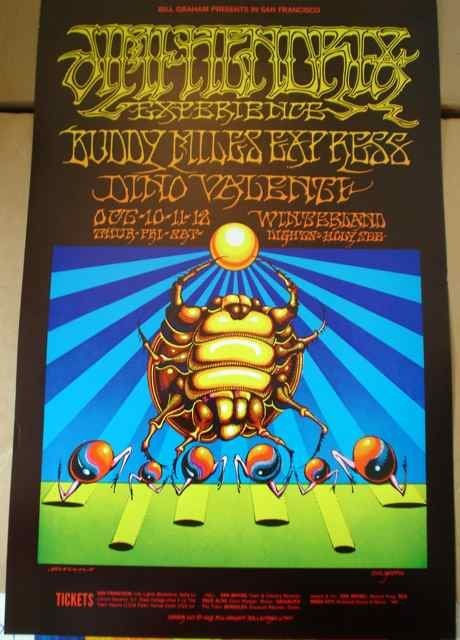 1086: A poster for BGP (140) featuring Jimi Hendrix Exp