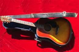 3075: Cliff Richard Guitar  A Gibson j45 six string aco