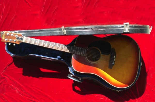 3075: Cliff Richard Guitar  A Gibson j45 six string aco