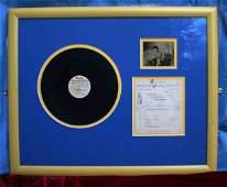 3179: Elvis acetate with invoice   A Memphis Recording