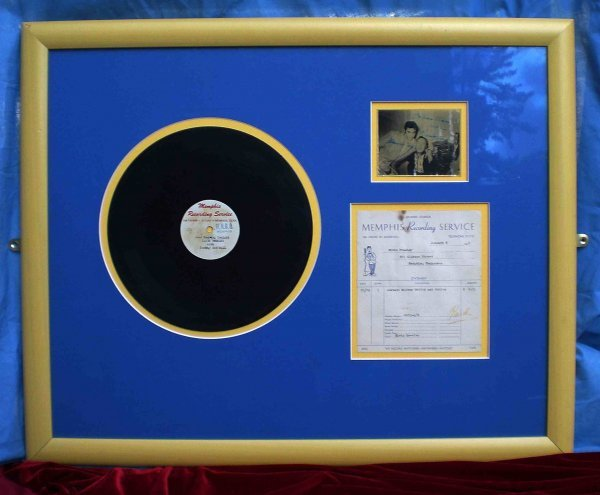 3179: Elvis acetate with invoice   A Memphis Recording