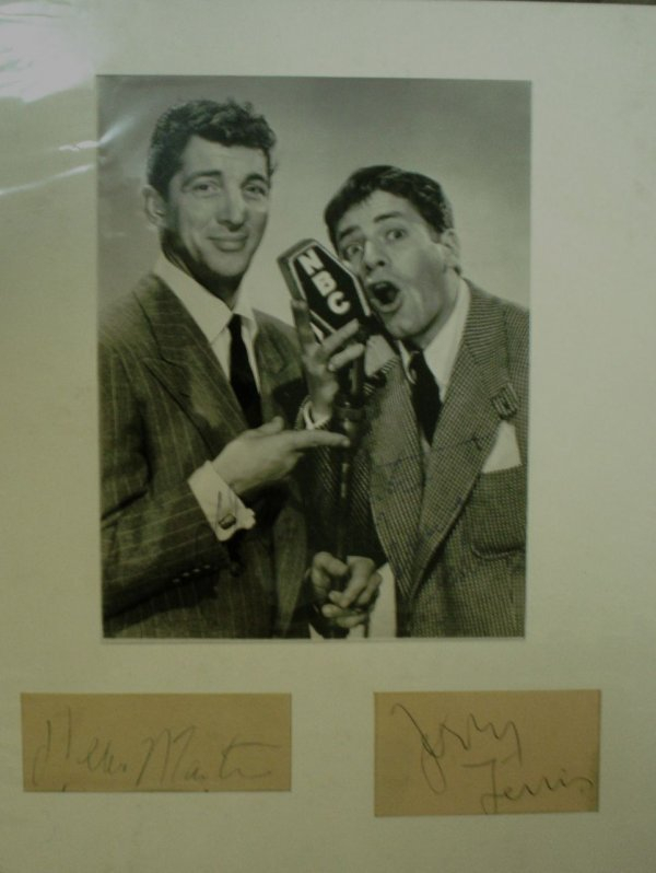 9: Dean Martin and Jerry Lewis An early b/w promotional