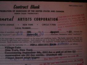 12: Nina Simone A General Artist Corporation Contract