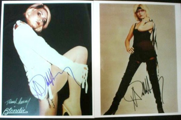 94: Blondie Debbie Harry signed photographs A sexy 10x8 - 2