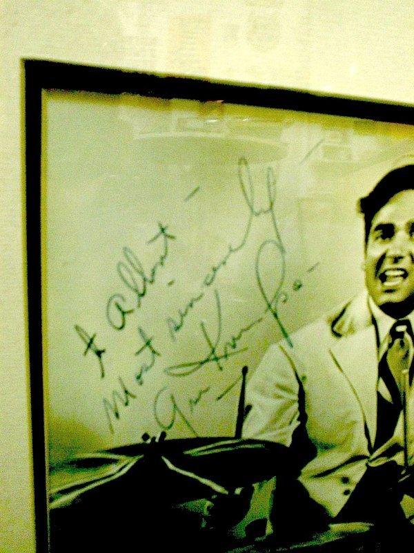 306: Gene Kruper A signed b/w promotional photograph