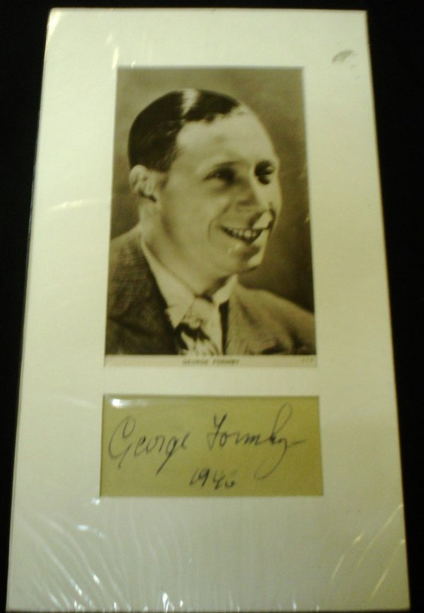 307: George Formby  - A signed Album Page and photo