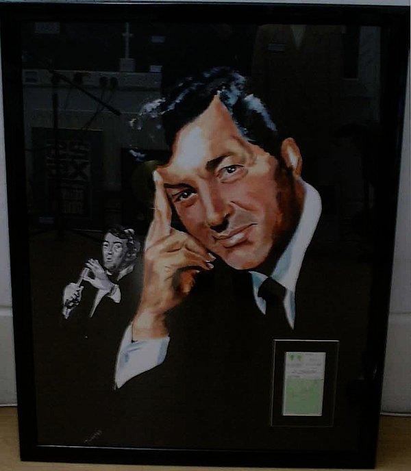 310: Dean Martin An Original Painting of  Dean Martin b