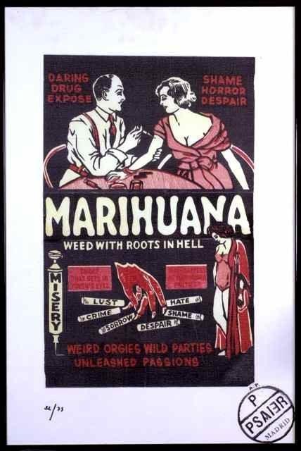 320: Marijuana Lithograph PIETRO PSAIER 1936-2004