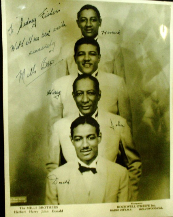 """328: The Mills Brothers  A signed 8x10"""" photograph"""
