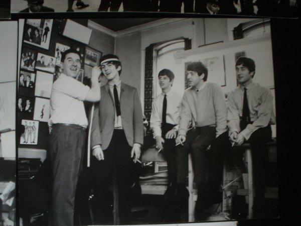 524: Beatles Dezo Hoffmann six original Stamped Photos