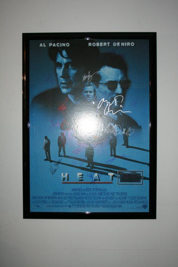 21: Heat Movie Poster Signed by cast incl. De Niro Paci