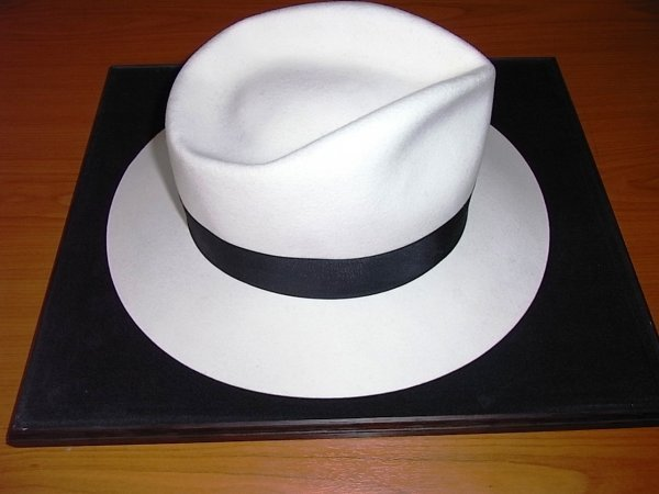 195: Jacksons Michael Jackson's White Fedora