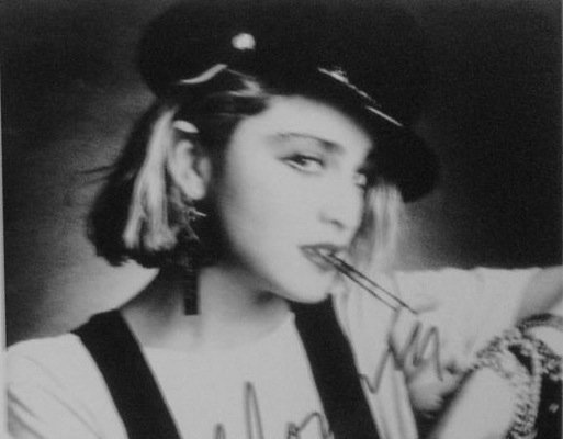221: Madonna An iconic Black leather motorcycle Cap - 3