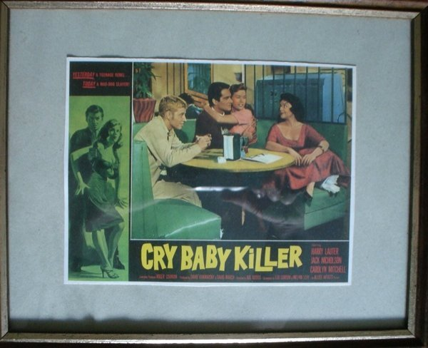 2:  Framed Flyer of Cry baby Killer  Jack Nicholson