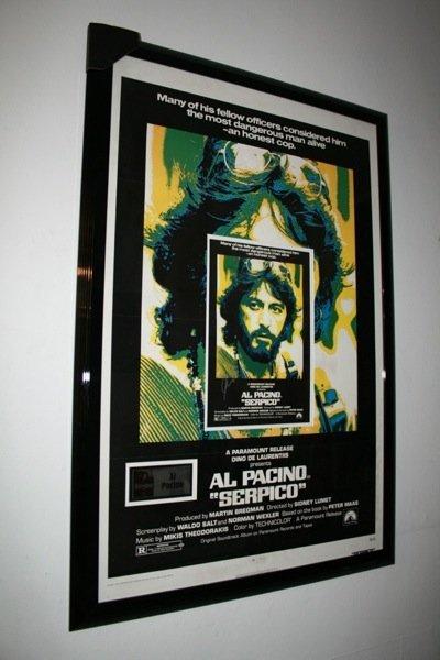 4: Al Pacino - Serpico - Lobbycard - Signed Framed