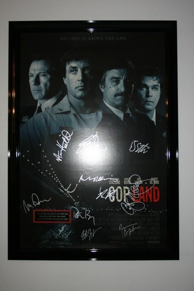 13: CopLand Singed Movie Poster by cast - Framed