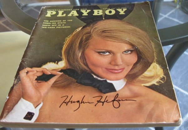 17: Hefner Signed Playboy A copy of the March edition o