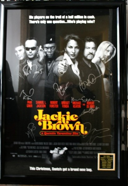 19: Jackie Brown Movie Poster Signed by cast - Framed