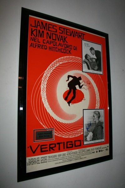 24: Vertigo - Jimmy Stewart, Kim Novak  - Signed Photo