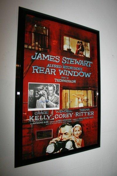 25: Rear Window - Jimmy Stewart - Signed Poster Framed