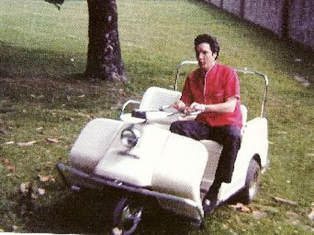 117: Elvis Harley Davidson Golf Cart