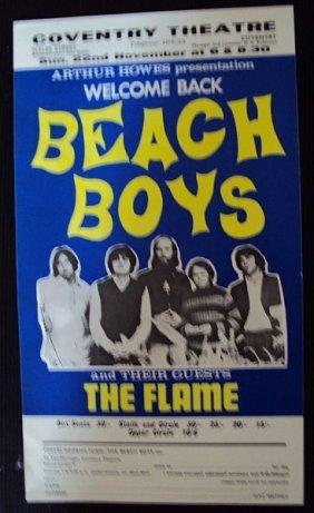 Beach Boys 1967 Lobby Card And Flyer Welcoming Bac