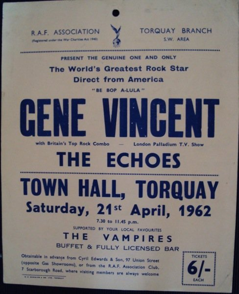 152: Gene Vincent 1962 Lobby card