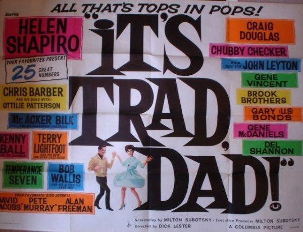 154: Its Trad Dad ! British quad film poster