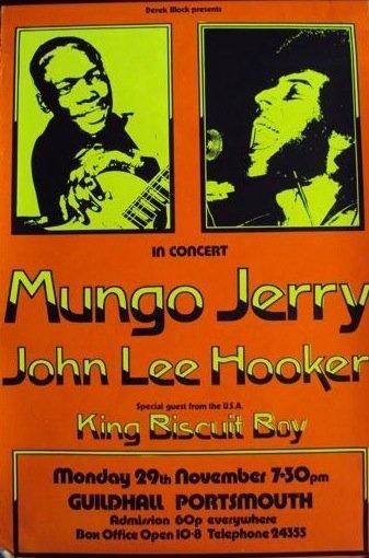 156: JOHN LEE HOOKER. An original concert poster