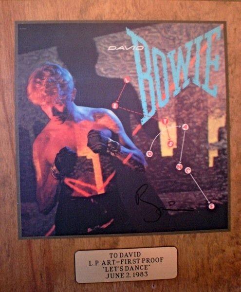 162: David Bowie Lets Dance Artwork Signed Presentation