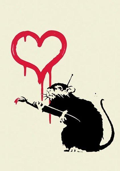 243: Banksy Love Rat Print