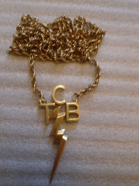 362: Elvis Presley's Solid Gold TCB Necklace given To