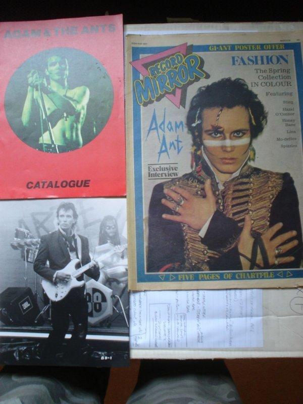 2: Adam Ant magazines