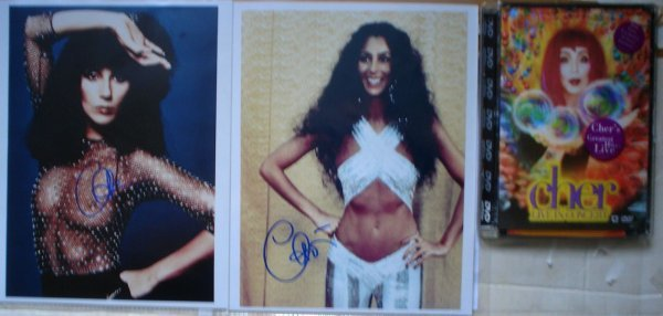 10: Cher Signed Photographs