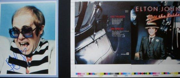 18: Elton John Artwork and Signature Kiss The Bride