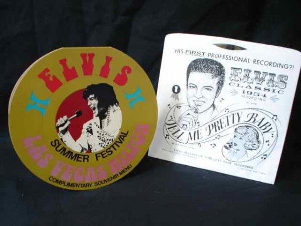 23: Elvis Presley Las vegas Menu & early Single