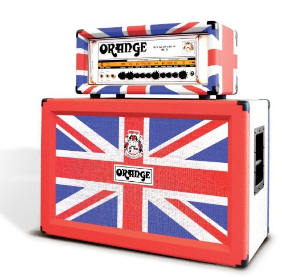 8: Orange Ltd Edition Union Jack Amp & Speaker MAJ LOT